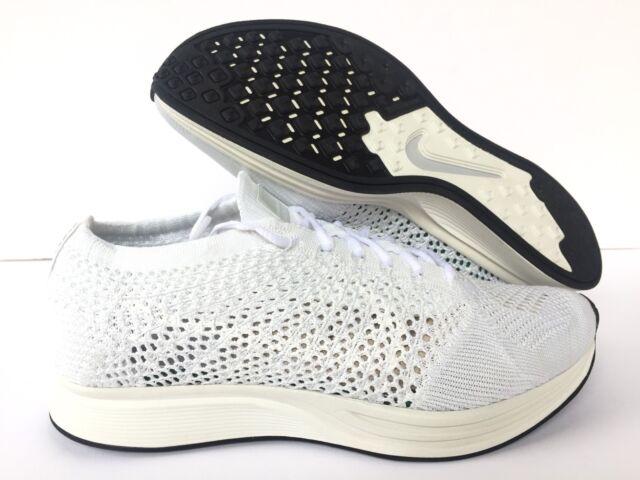 1872aee584df Nike Flyknit Racer Goddess Size 11.5 White Sail Pure Platinum 526628 ...