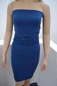 Wolford-Fatal-Dress-Kleid-Tube-Top-Rock-S-Small-38-40-Elecric-blau