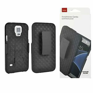 Samsung-Galaxy-S5-Holster-amp-Shell-Combo-Black-Retail-Packaging