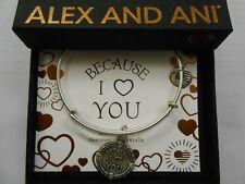 Alex and Ani Because I Love You Charm Bangle RAFEALIAN Silver - A18BILY04RS