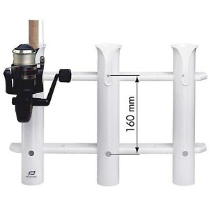 Pvc Fishing Rod Holder Rack For 3 Rods For Your Boat Ebay