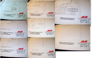 jlg scissors boom lift hydraulic electrical schematics lot 822 rh ebay com