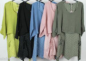 Mujer-Estilo-por-capas-Italian-Dobladillo-asimetrico-2-Piezas-Vestido-De-Puntos