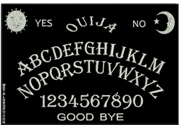 OUIJA EMBROIDERED BACK PATCH SPIRITISM ESOTERIC GHOST BACKPATCH Metal Negro