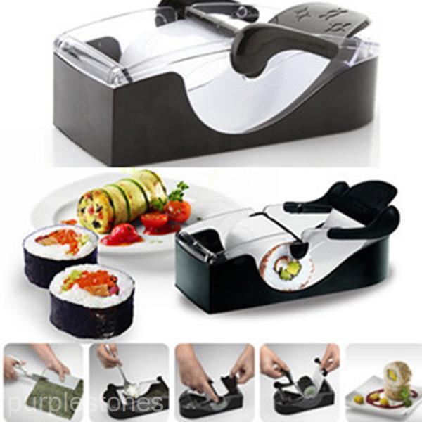 Kitchen Magic Roll DIY Sushi Roller Maker Cutter Machine Gadgets Gadget Tool