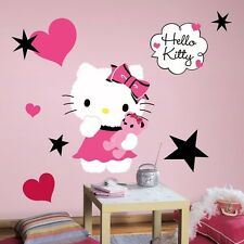 """HELLO KITTY COUTURE 20"""" Giant Wall Decals Pink Black Vinyl Room Decor Stickers"""