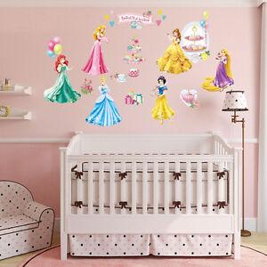 Disney-Princess-Kid-Wall-Art-Decal-Vinyl-Stickers-Home-Girls-Nursery-Decor-Mural