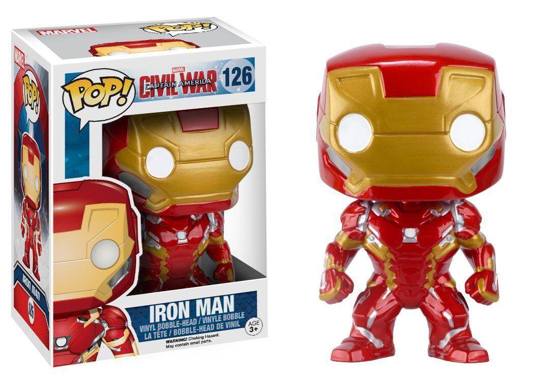 Funko pop  Marvel  captain america 3 iron man films