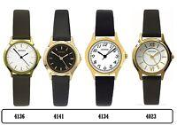 Sekonda Gold Tone Case Black/Brown Leather Strap Ladies Watch Range