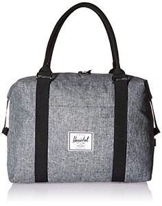 e38b0713595 Image is loading Herschel-Supply-Co-Strand-Duffle-Bag-Raven-Crosshatch-
