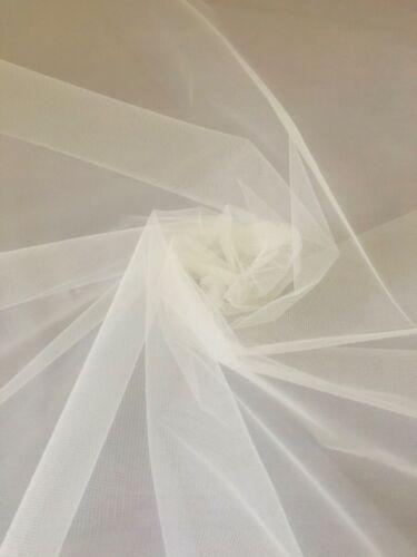 Vestido de novia 3 MTR Marfil rígido neto de 150cm de ancho Tutu Velo De Malla FLARE libre Crafts