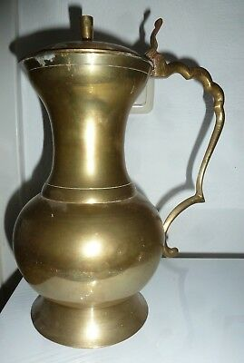 Große Messingkanne 28 Cm Hoch Vintage Kanne Schwer Messing Made In India Orient Auf Dem Internationalen Markt Hohes Ansehen GenießEn