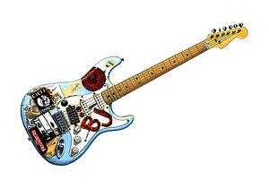 Image Is Loading Billie Joe Armstrong S Fernandes Stratocaster 039 Blue
