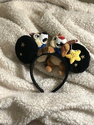 NEW Disneyland Paris 25th Anniversary Chip and Dale Mouse Ear Headband
