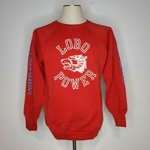 Vintage University of New Mexico LOBOS Sweatshirt by Russell Athletic Made in the USA