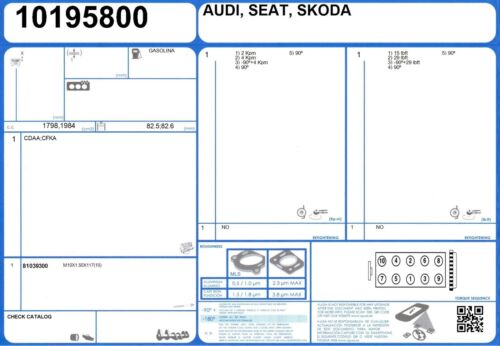 Cylinder Head Bolt Set AUDI A4 TDI 16V 2.0 163 BVA 6//2006-