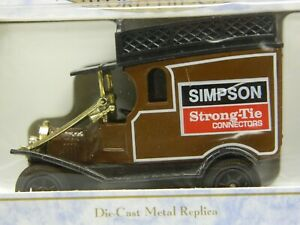 OXFORD-Diecast-1-43-Vintage-British-Delivery-Panel-Truck-Brown-w-Collector-Box