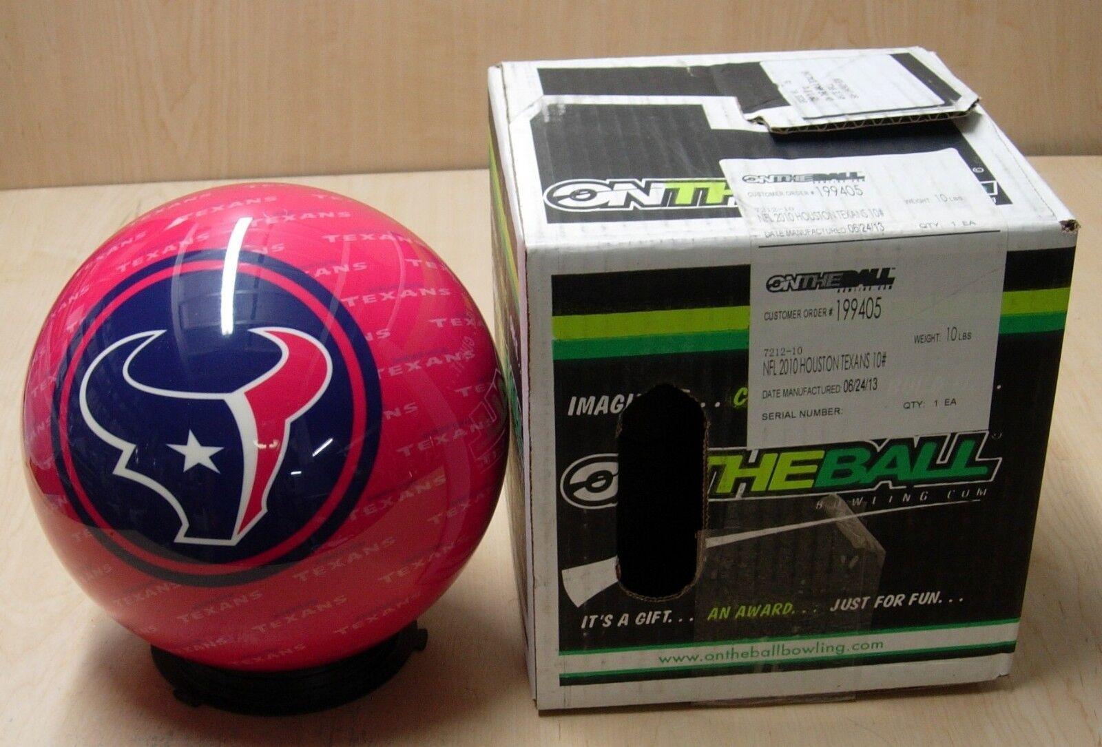 = 10TW 1.8 Bowling Ball OTBB Viz-A-Ball Retired 2010 Houston TEXANS M06 24 13