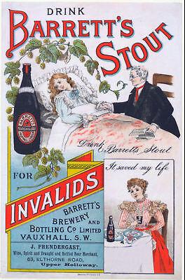 Bock Beer Vintage 1900 Brewery Advertising Poster Canvas Giclee Print 24x29 in.