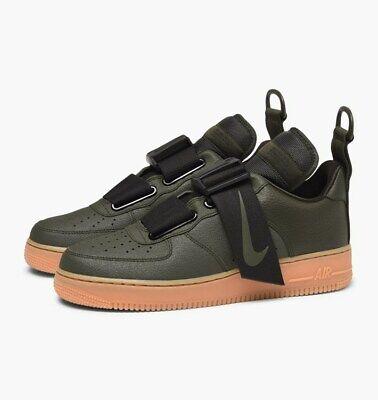 Nike Air Force 1 Utility AO1531 300: Sequoia Verde: Nero: GUM: UK 8, 10 | eBay