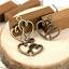 Wholesale 650 pcs Tibet Silver Double Heart Charm Pendentif Perles Bijoux Making