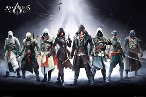 Assassin S Creed Protagonist Characters 34 X 24 Poster Altair