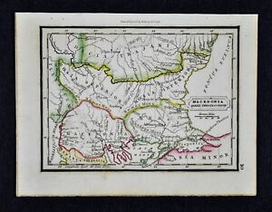 Ancient Greece Map Macedonia.1832 Murphy Map Macedonia Dacia Thracia Ancient Greece Balkans