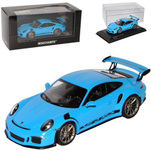 Porsche 911 991 GT3 RS Riviera Blau Ab 2013 1//43 Minichamps Modell Auto mit od..