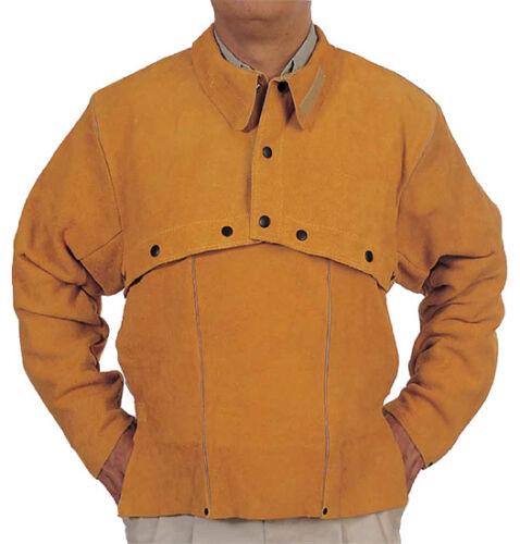 """Size XXXL Weldas Leather Welding Cape Sleeve w// 20/"""" Bib"""