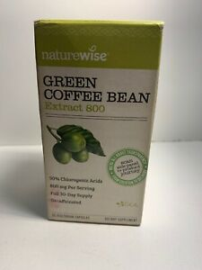 Naturewise Green Coffee Bean Extract 800, 60 Veg Caps - Exp:01/2020 Sealed!