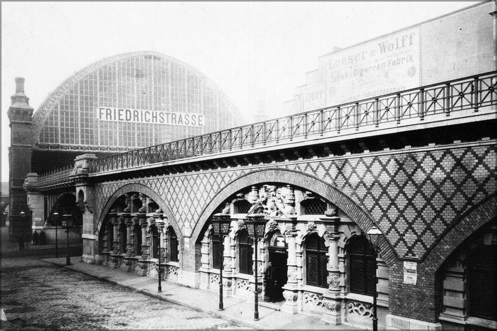 Affiche, Plusieurs Dimensiones; Berlin Friedrichstrasse Railway Station 1885
