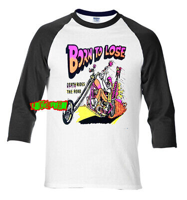 BORN TO LOSE OUTLAW BIKER T SHIRT old school chopper motorcycle vintage retro