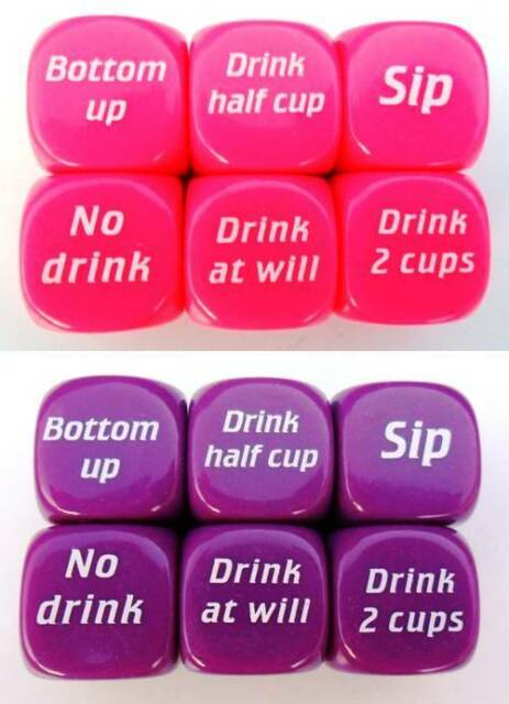 Party Drinking Dice Decider Game Pub Toy Die Funny Adult Stag Hen Gift Filler UK