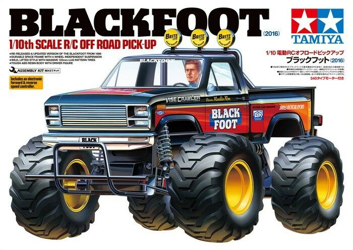 Tamiya 58633 1/10 escala EP RC Off-Road Pick Up Camión Negrofoot 2018 Kit Con Esc