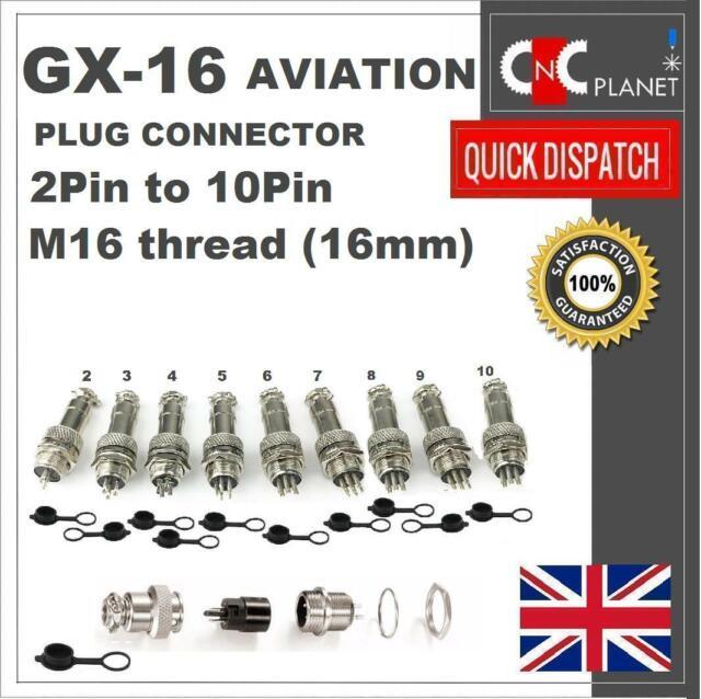 Aviation Connector GX9 9mm plug Socket Slide-on for Panel Metal 2pin~5pin