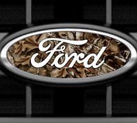 Camo Ford Emblem Overlays Oval Vinyl Decal Sticker Front & Rear Set F150