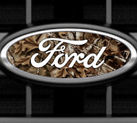 Camo Ford Emblem Overlays Vinyl Decal Sticker Any Year / Model Front & Rear Set