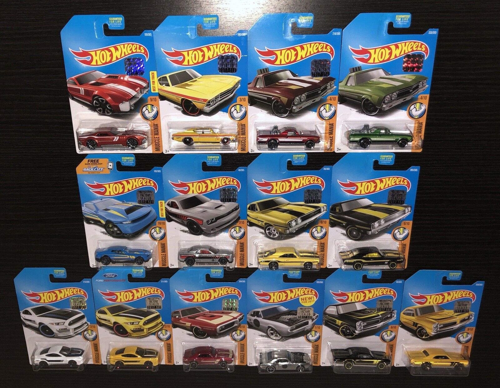 HOT WHEELS 2017 FACTORY SEALED MUSCLE MANIA COMPLETE SET