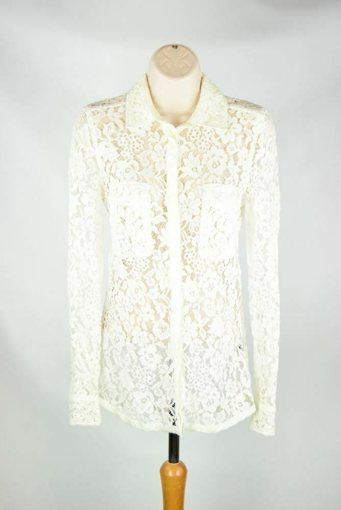 JOSEPH Weiß Lace Shirt, US 4