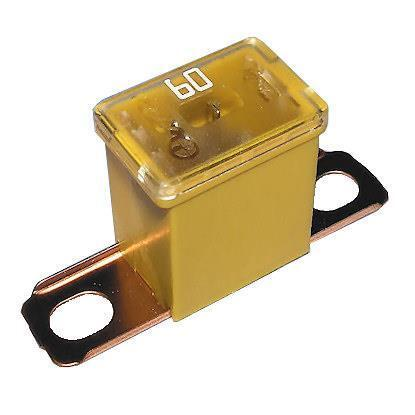 REPLACEMENT MALE 283 JAPANESE CARTRIDGE PAL SLOW BLOW FUSE 60 AMP YELLOW 191636