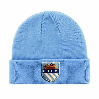 2017-2018 Champions Manchester City Fc Knitted Beanie Hat Embroidid Club Badge