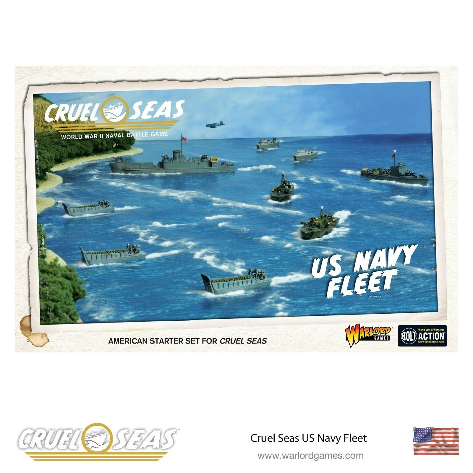 WARLORD GAMES - CRUEL SEAS - US NAVY FLEET - BNIB