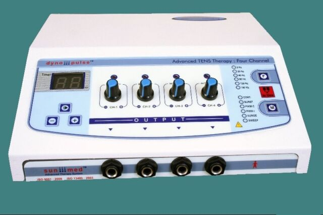 Electrotherapy Physiotherapy Pain Relief Therapy 4 ch Electrical Stimulator J1T>