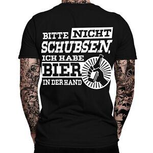 best loved 879a3 818bb Details zu Bitte nicht schubsen, ich habe Bier in der Hand T-Shirt |  Sprüche | Lustig | Fun