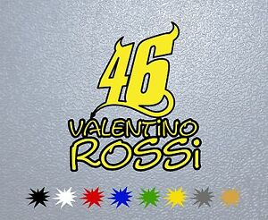 Details About Motorcycle Sticker Pegatina Decal Vinyl Aufkleber 46 Valentino Rossi