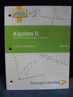 Algebra Ii: A Common Core Math Program Student Assignments Vol. 1 Book