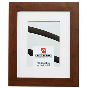 Craig Frames Fm26wa 20x24 Brown Picture Frame Matted To Display A
