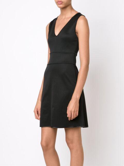 Rag Bone Astrid A Line Little Black Open Back Sleeveless Dress