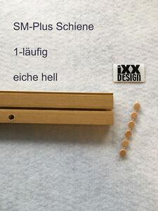 sm plus gardinenschiene vorhangschiene gardinenleiste eiche hell 1 l ufig ebay. Black Bedroom Furniture Sets. Home Design Ideas
