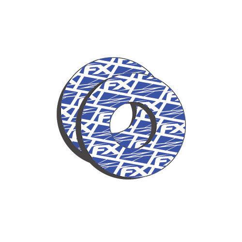 "BLUE SCOTT FULL WAFFLE RADIAL GRIPS 7//8/"" NEW FACTORY EFFEX BLUE GRIP DONUTS"